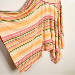Cynthia Steffe Dresses - CYNTHIA STEFFE Strapless Stripe Handkerchief Dress